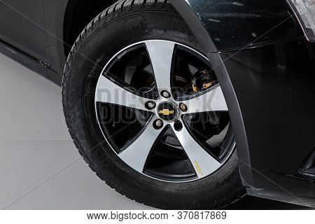 Novosibirsk/ Russia - April 28, 2020: Chevrolet Cruze, Close-up Of The Alloy Wheel. Photography Of A