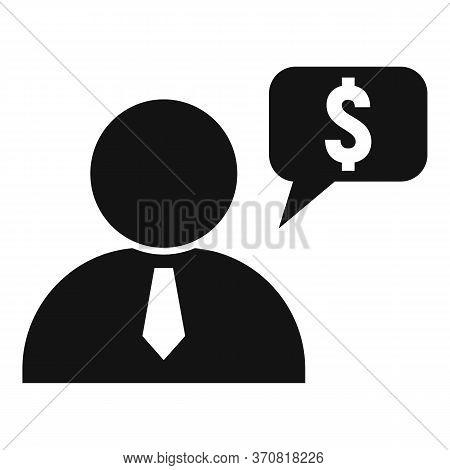Finance Question Advisor Icon. Simple Illustration Of Finance Question Advisor Vector Icon For Web D