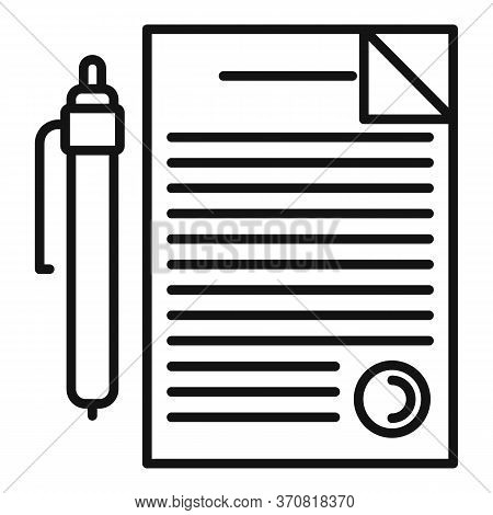 Finance Accounting Paper Icon. Outline Finance Accounting Paper Vector Icon For Web Design Isolated