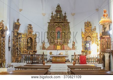 Hornachos, Spain - May 31st 2020: Franciscan Convent Of San Ildefonso, Founded By Charles I Of Spain