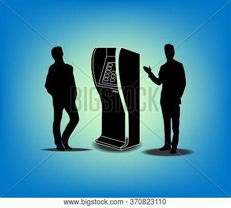 Businessman Manager Finance Machine Terminal Card Credit