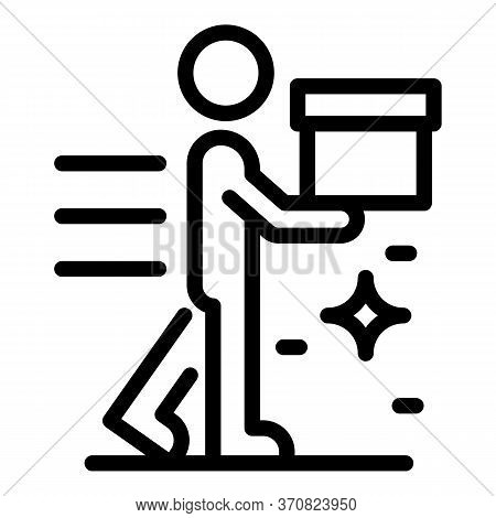Delivery Store Service Icon. Outline Delivery Store Service Vector Icon For Web Design Isolated On W