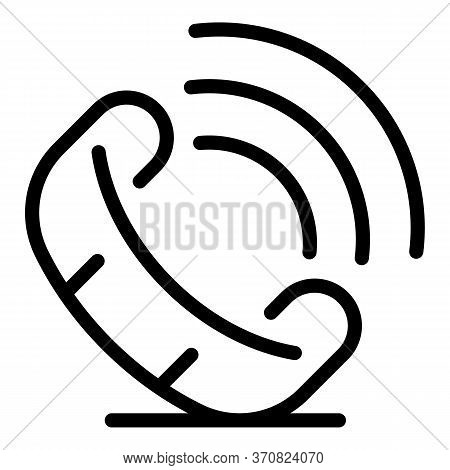 Phone Ringing Icon. Outline Phone Ringing Vector Icon For Web Design Isolated On White Background