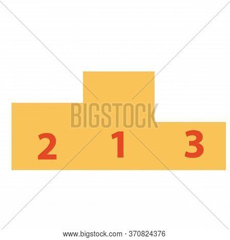 Flat Design Vector Illustration Of White Winner Podium Templates With 1, 2, 3 Numbers Isolated On A