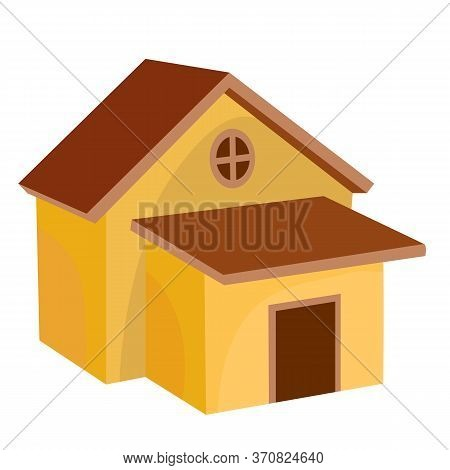 Technical Room, Shed, Flat, Cartoon Illustration, Isolated Object On A White Background, Vector Illu