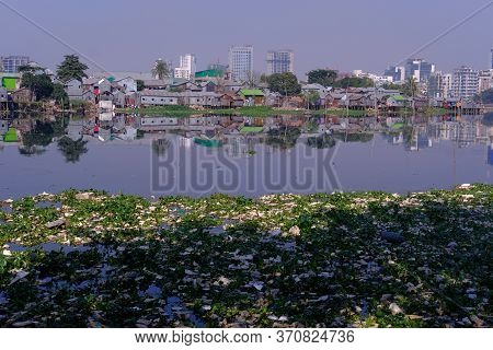 Polluted Canal And River In Dhaka City