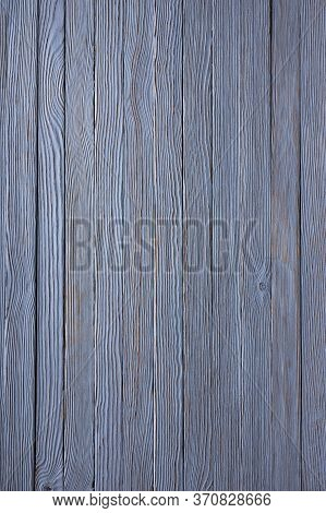 An Old Wood Background Painted Blue. Cracks, Bitches And Texture. Photo, Image.