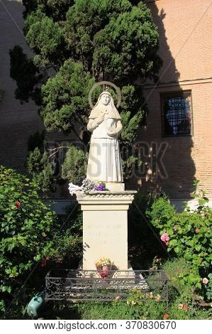 Seville, Spain - July 13, 2011:monument To Sister Angela Dela Cruz, Patroness Of The Poor