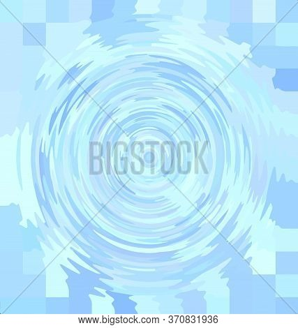 Vector Background Image Abstract Ornament Circles Light Blue