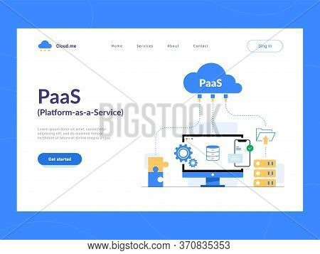 Paas: Platform As A Service First Screen. Cloud Components For Software, A Framework To Build Custom