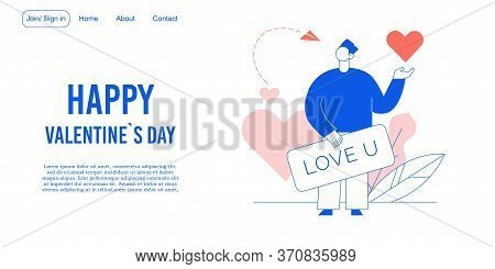 Love Declaration On Valentine Day Landing Page