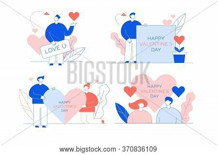 Happy Valentine Day Love Declaration Card Set