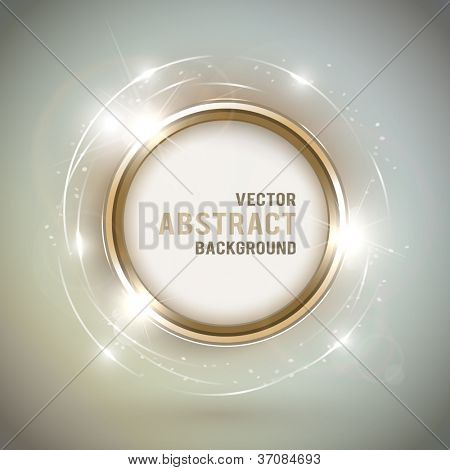 Abstract shiny golden frame with space for text