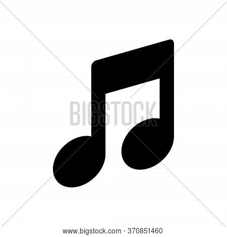 Music Note Icon, Music Note Icon Isolated On White Background. Music Note Icon Vector Design.