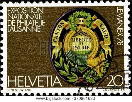 02.09.2020 Divnoe Stavropol Krai Russia The Postage Stamp Switzerland 1978 Anniversaries National Ph