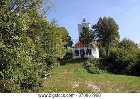 GORICA LEPOGLAVSKA, CROATIA - OCTOBER 08, 2016: Chapel of Saint John the Baptist in Gorica Lepoglavska, Croatia