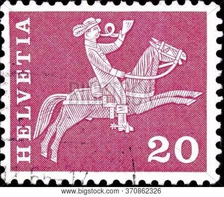 02.09.2020 Divnoe Stavropol Territory Russia The Postage Stamp Switzerland 1960 Postal History - Mot