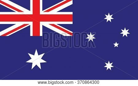Australian Flag, Official Colors And Proportion Correctly. National Australian Flag. Vector Illustra