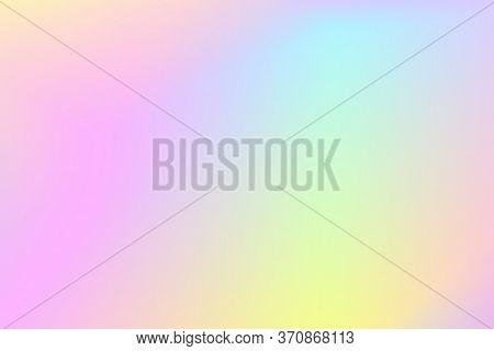 Pink Green Background. Pale Color Gradient Mesh. Soft Multicolored Backdrop For Web Design. Digital