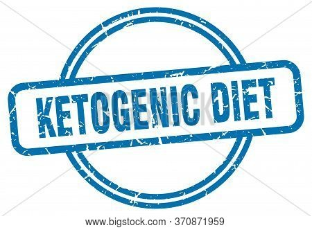 Ketogenic Diet Stamp. Ketogenic Diet Round Vintage Grunge Sign. Ketogenic Diet
