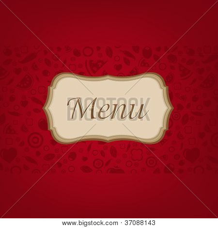 Dark Red Background With Menu, Vector Illustration