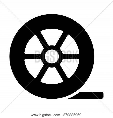 Auto Wheel Tire Icon In Line Style. Car Tires Symbol.