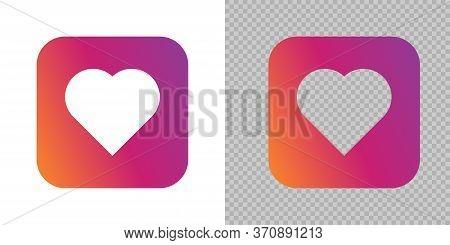 Like Heart Button Social Media, Vector Like Heart Template Icon.