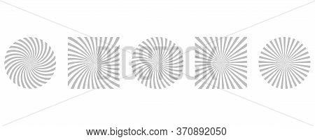 Sunburst Pattern Background. Sunrays Vector Set. Rays Striped.