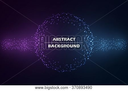 Abstract Circular Geometric Background. Abstract Circular Star Lights. Template For Brochure Cover,