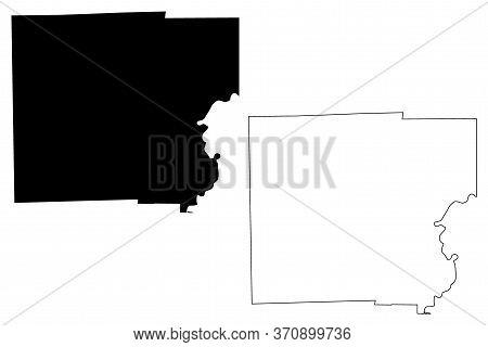 Clark County, Illinois (u.s. County, United States Of America, Usa, U.s., Us) Map Vector Illustratio