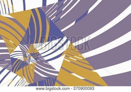 Abstract Flat Geometric And Curve Multicolor Background.  Retro Style. Template For Web Page, Greeti