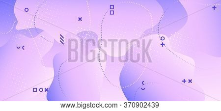 Pastel Purple Brochure. Violet Geometric Pattern. Fluid Journal. Contemporary Decoration. Gradient T