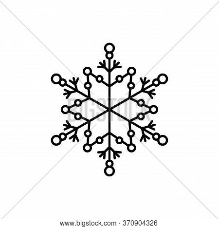 Snowflake Icon. Simple Line, Outline Vector Flake Of Snow Icons For Ui And Ux, Website Or Mobile App