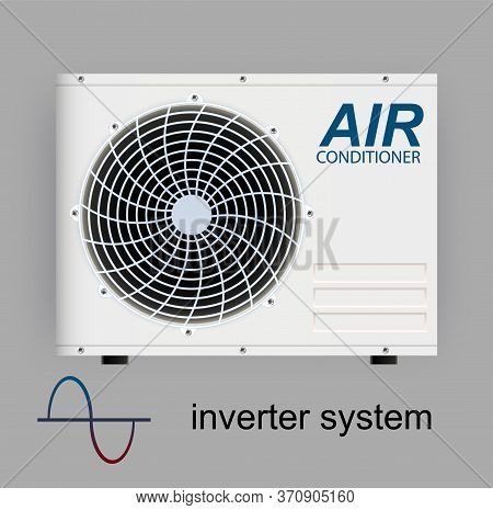 Split System Air Conditioner Inverter. Realistic Conditioning With With Wifi Control Over The Intern