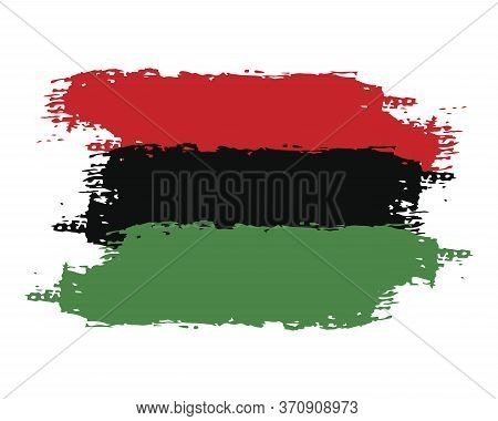 Hand Draw Juneteenth Freedom Day Flag In Vector Format. Flag For Poster. Juneteenth Symbol Backgroun