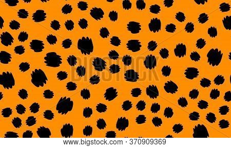 Leopard Print Seamless. Animal Skin Pattern. Leopard Texture. Panther Skin Background. Spotted Seaml
