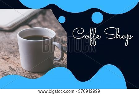 Modern Flayer, Poster For Coffe Shop. Abstract Background.
