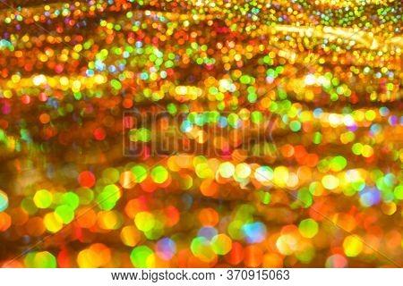 Sparkle Glittering Background. Real Defocused Lights. Colorful Defocused Lights Collection.