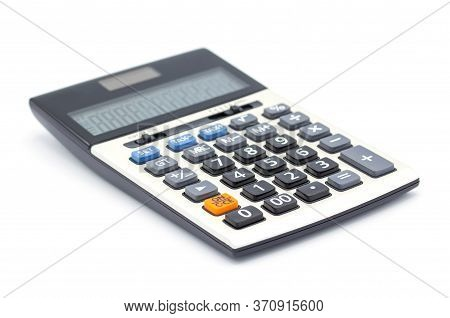 Calculator Isolated On White Background,close Up Button Calculator