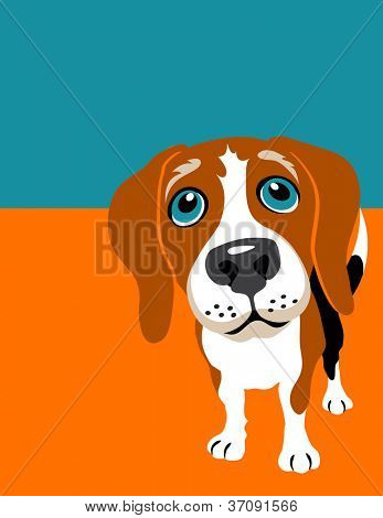 Vector illustration of a Beagle dog
