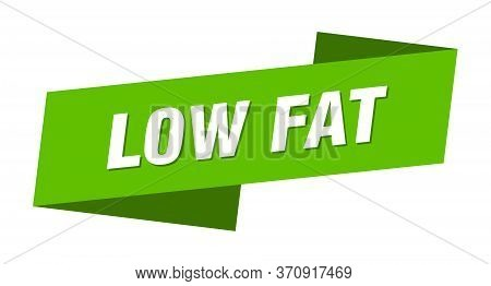 Low Fat Banner Template. Low Fat Ribbon Label Sign