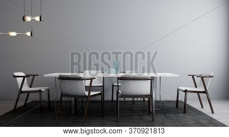 Stylish Interior Of Bright Living Room With White Table And Chair. Living Room Interior Mockup. Mode