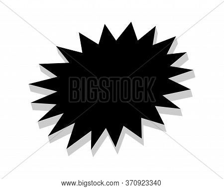 Stickers Black Star For Discount Price Message, Chat Label Serrated Shape, Sticker Star Of Sale Prom