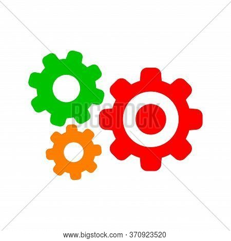 Cog Gear For Mechanization Icon, Gear Symbol For Button Icon For Progress Web, Simple Circle Cog Sha