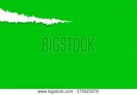 Paper Green With Tear Marks, Paper Rip Torn Green Background, Paper With Edge Tear, Sheet Paper Card