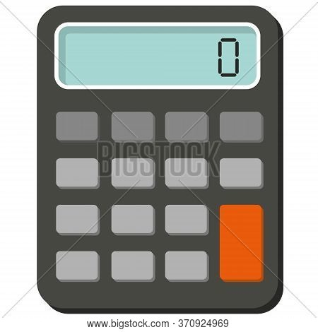 Colour Calculator Vector With Digit On Lcd Display