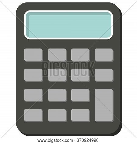 Calculator Vector Icon With Blue Screen Maths