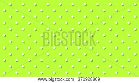 Polka Dot White On Lemon Green For Background, Polka Dot White Pattern, Random Scattered Dots, Green