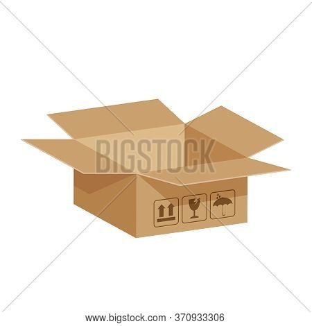 Open Crate Boxes 3d, Cardboard Box Brown, Cardboard Parcel Boxes Empty, Packaging Cargo Open, Isomet