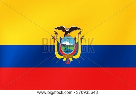Ecuador Flag, National Ecuadorian Symbol For Illustration Of Travel, Election, Holidays